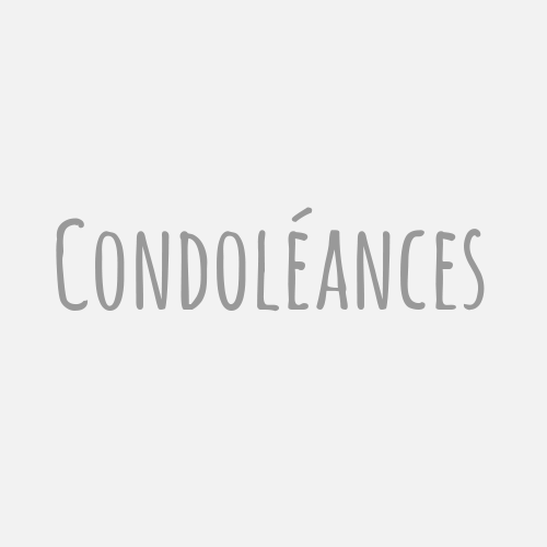 carte de condoléances bouquet